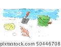On a sandy beach 50446708
