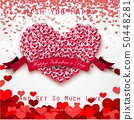 Valentine heart concept of roses with pink ribbon  50448281