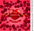 Happy Valentines day on red background and  red he 50448282