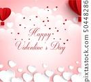Vector illustration of Happy valentines day greeti 50448286