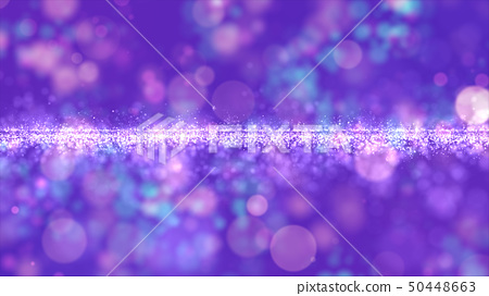 Abstract purple color digital particles with bokeh 50448663