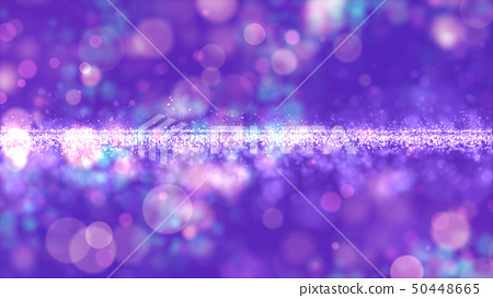 Abstract purple color digital particles with bokeh 50448665