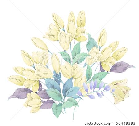 優雅的水彩花卉 50449393