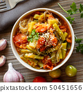 Rice spaghetti with vegetables 50451656