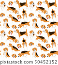 beagle in action,seamless pattern 50452152