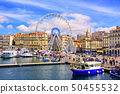 Marseilles city center and the old port, France 50455532