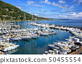 White yachts in port of Alassio on Riviera, Italy 50455554
