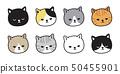 고양이, 벡터, 새끼 50455901