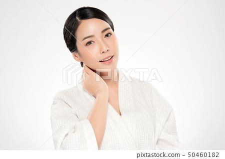 Beautiful Young asian Woman with Clean Fresh Skin 50460182