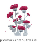 Thistle or burdock flowers. Cartoon thistle isolated on white, vector illustration 50460338