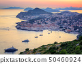 Old town of Dubrovnik on sunset, Croatia 50460924