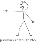 Vector Cartoon of Crazy or Mad Man or Businessman Pointing His Finger and Laughing 50461927