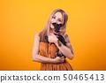 dog, woman, female 50465413