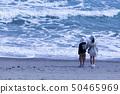 바다를 바라 보는 남매 50465969