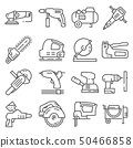 Electrical work tools vector icons for web design 50466858