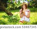 fruits, flowers, wreath 50467345