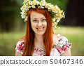 blossom, wreath, woman 50467346