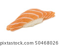 Nigiri Sushi isolated in a white background. 50468026