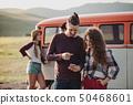 friends, car, smartphone 50468601