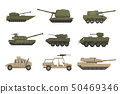 Armored army vehicles set, military heavy, special transport vector Illustrations on a white 50469346