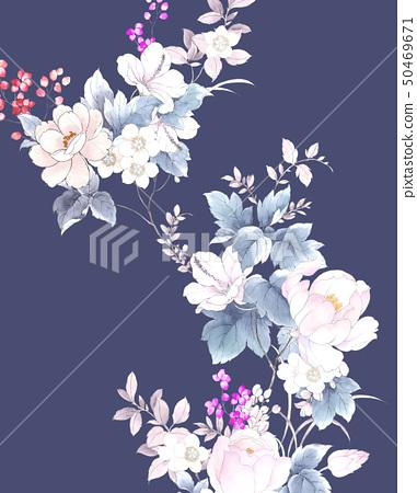 꽃 수채화 장미 컬렉션 50469671