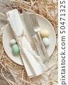 餐具 整套的餐具 餐巾 50471325