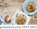 Whole wheat tagliolini with mushrooms Porcini 50471842