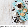 Italian coffee set for breakfast 50473043