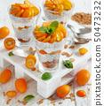 Chia pudding parfait with kumquat 50473232