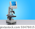 Digital microscope on the desk. 3D rendering 50476015