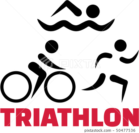 Triathlon symbols with word 50477536