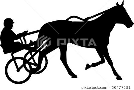 Harness racing silhouette 50477581