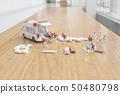 the mini figure of first aid at ambulance 50480798