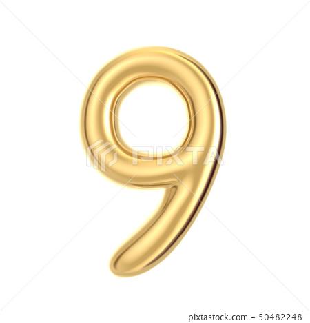 Golden foil number 9 50482248