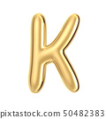 Golden foil alphabet K 50482383