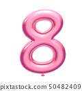 Pink balloon number 8 50482409