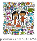 Travel to Singapore. Greeting card for your design 50483256