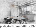 테이블과 의자가있는 방 50485197