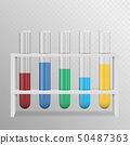 A realistic illustration of a set of laboratory 50487363