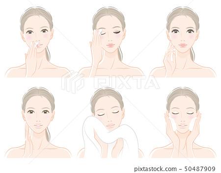護膚婦女的例證 50487909