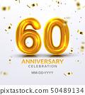 Sixtieth Anniversary Celebration Number Vector 50489134