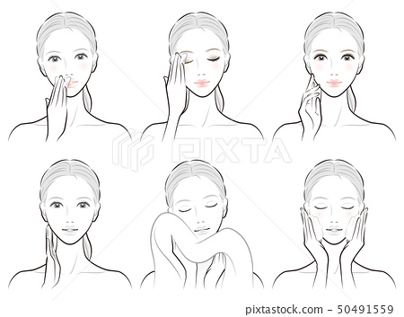 Illustration of a skin care woman 50491559