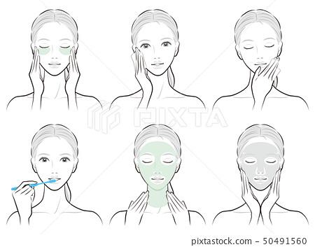 護膚婦女的例證 50491560