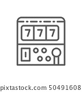 Slot machine game line icon. 50491608