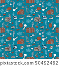 The bottom of the sea. Seamless pattern. 50492492