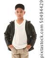 Asian boy in casual dress 50494429