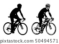 bicyclist sketch illustration and silhouette 50494571