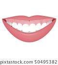 Mouth with a high smile line or gummy smile before the cosmetic, orthotropics or orthotropics 50495382