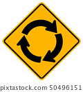 Roundabout Traffic Road Sign 50496151