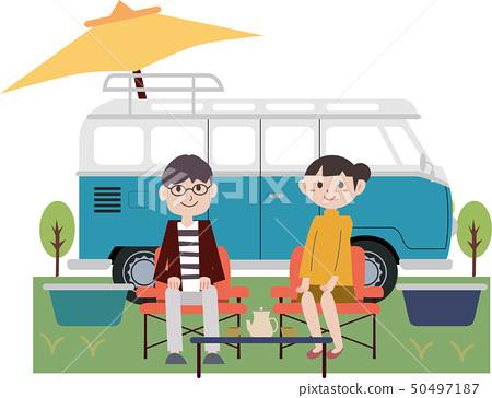 캠프 가족 50497187